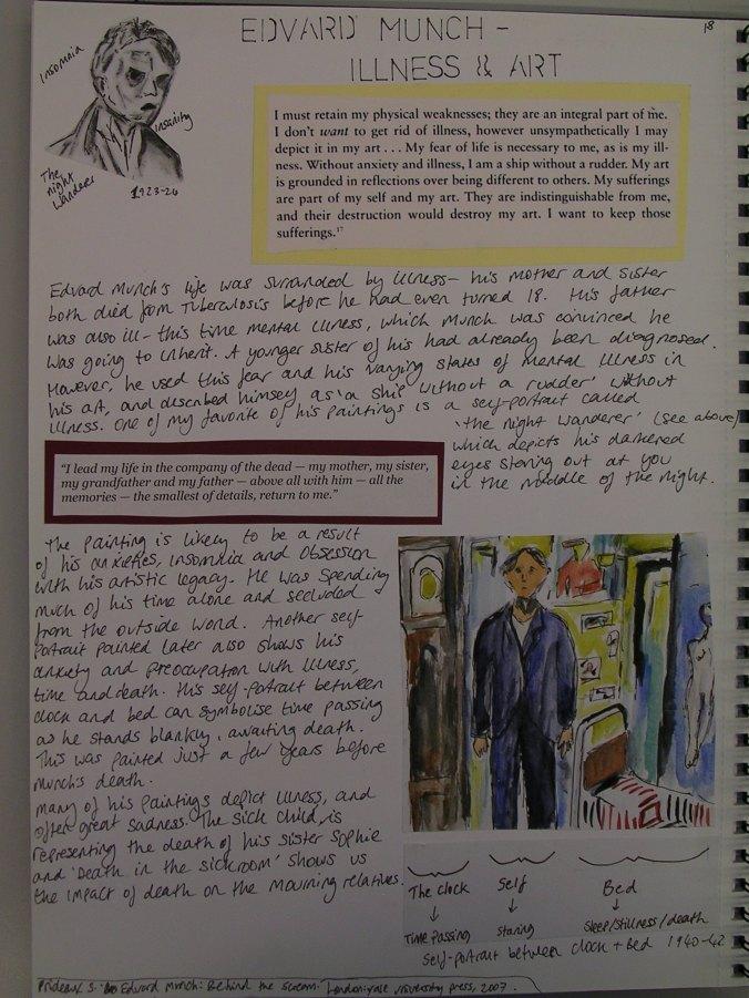 Alice Ryrie, Edvard Munch - Illness & Art, 2014/15