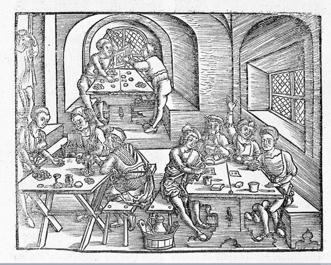 L0006185 Marsilius Ficinus, Interior of a tavern. Credit: Wellcome Library, London. Wellcome Images images@wellcome.ac.uk http://wellcomeimages.org Interior of a tavern, villagers playing games and drinking. Causes of melancholy (?) Woodcut 16th Century Von dem gesunden und langen leben I Ficinus, Marsilius Published: 1505 Copyrighted work available under Creative Commons Attribution only licence CC BY 4.0 http://creativecommons.org/licenses/by/4.0/